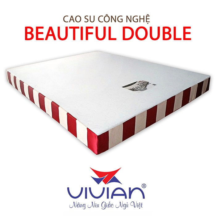 nệm cao su công nghệ beautiful double cao cấp 001