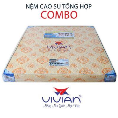 Bán nệm cao su tổng hợp Combo vivian thẳng 1m6-001
