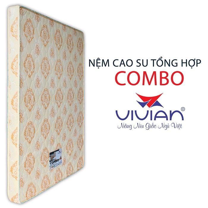 Bán nệm cao su tổng hợp Combo vivian thẳng 1m6-02