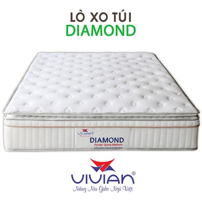 Bán nệm lò xo túi 4 viền Diamond Vivian cao cấp 001