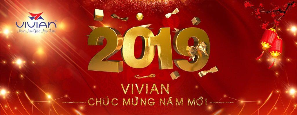banner nệm vivian chúc mừng năm mới 2019