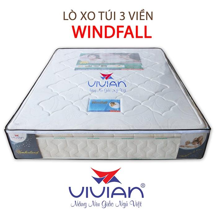 Nệm lò xo túi cao cấp 3 viền Winfall chất lượng 001